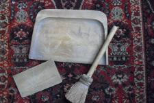Carved Dustpan with Broom